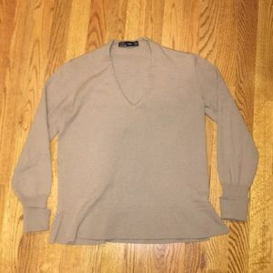 ZARA Tan Sweater | M